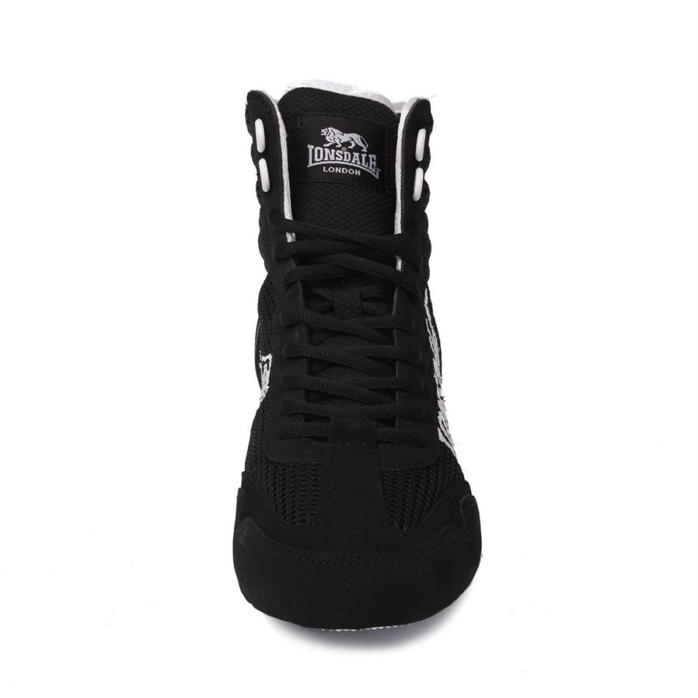 LONSDALE Men's Contender Boxing Boots - BLACK/WHITE