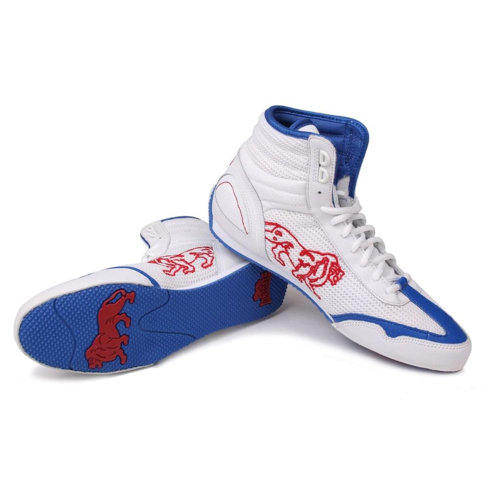 LONSDALE Men's Contender Boxing Boots - WHITE/BLUE
