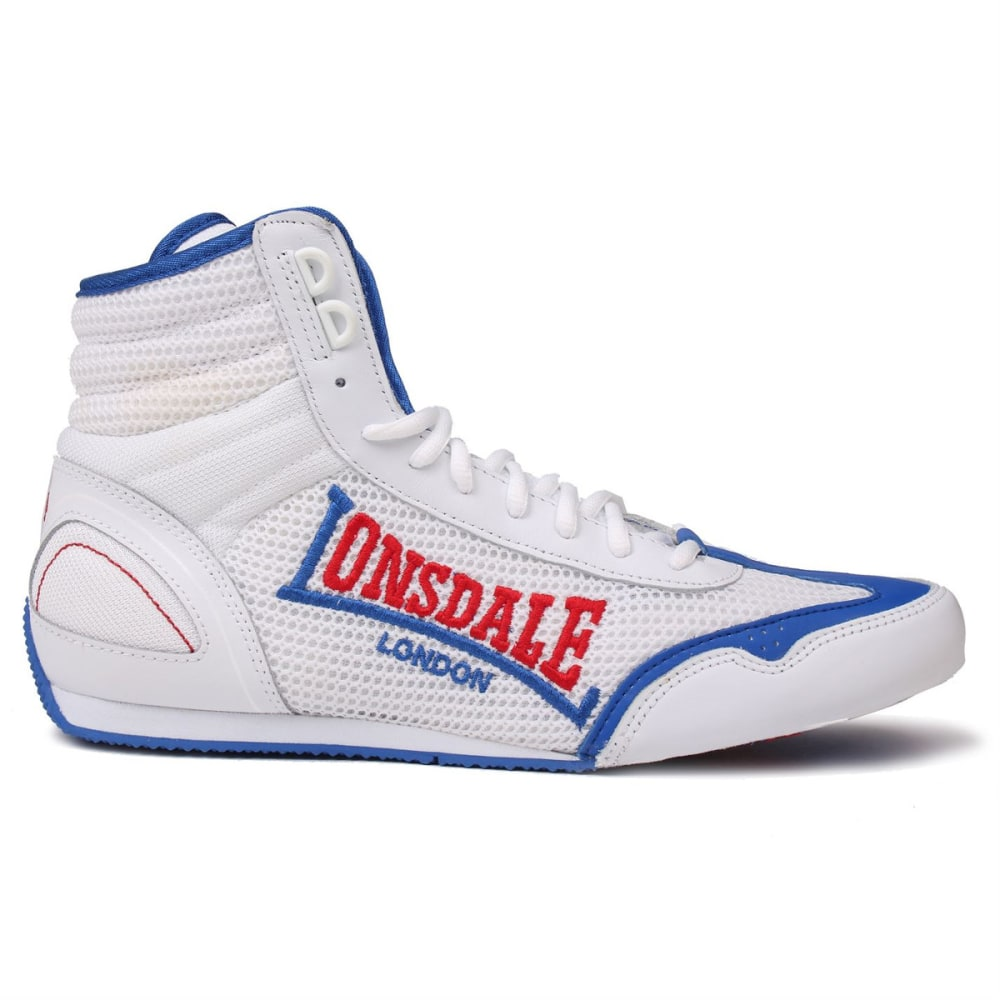 LONSDALE Men's Contender Boxing Boots - WHITE/BLUE