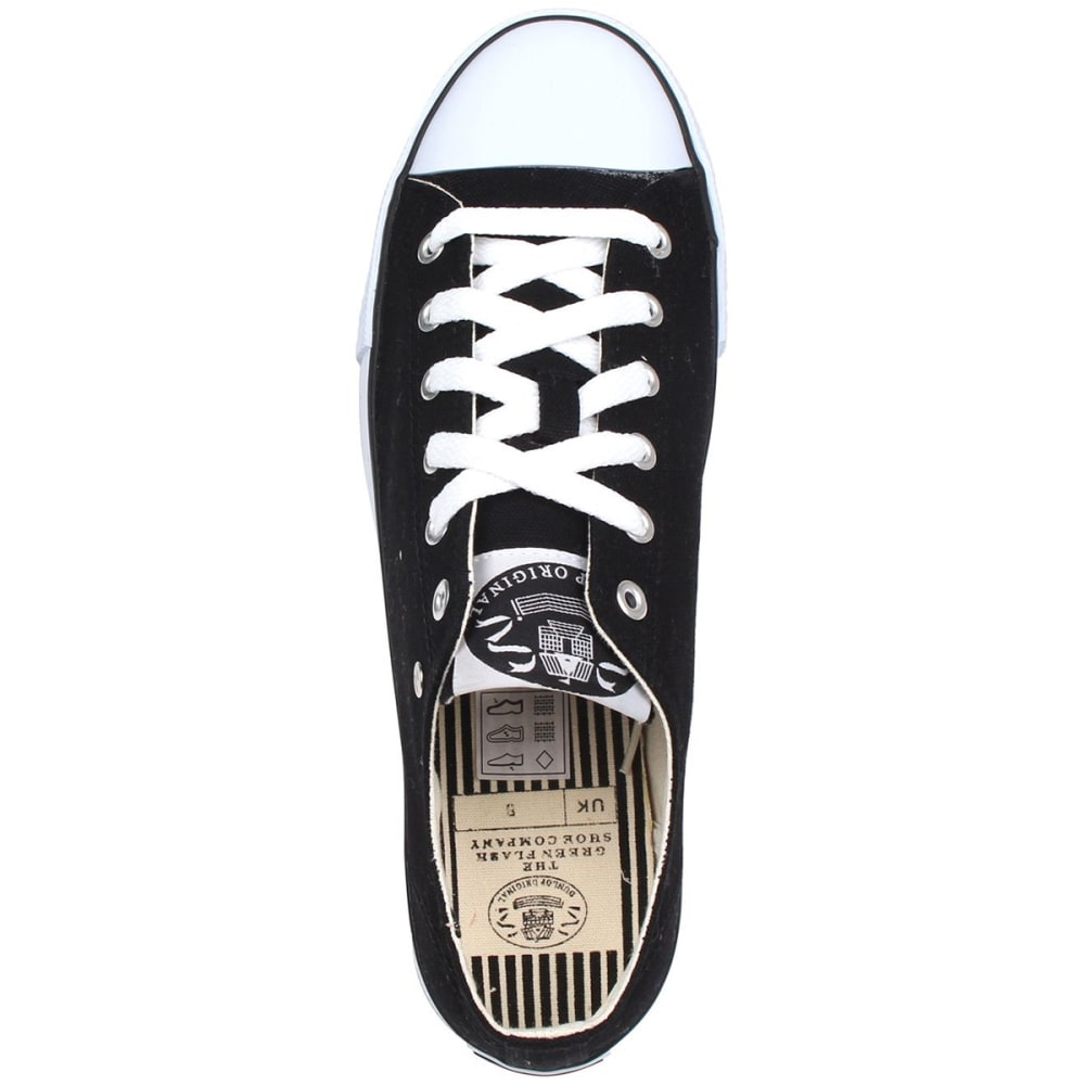 DUNLOP Men's Canvas Low-Top Sneakers - BLACK