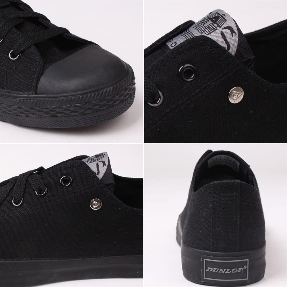 DUNLOP Men's Canvas Low-Top Sneakers - BLACK/BLACK