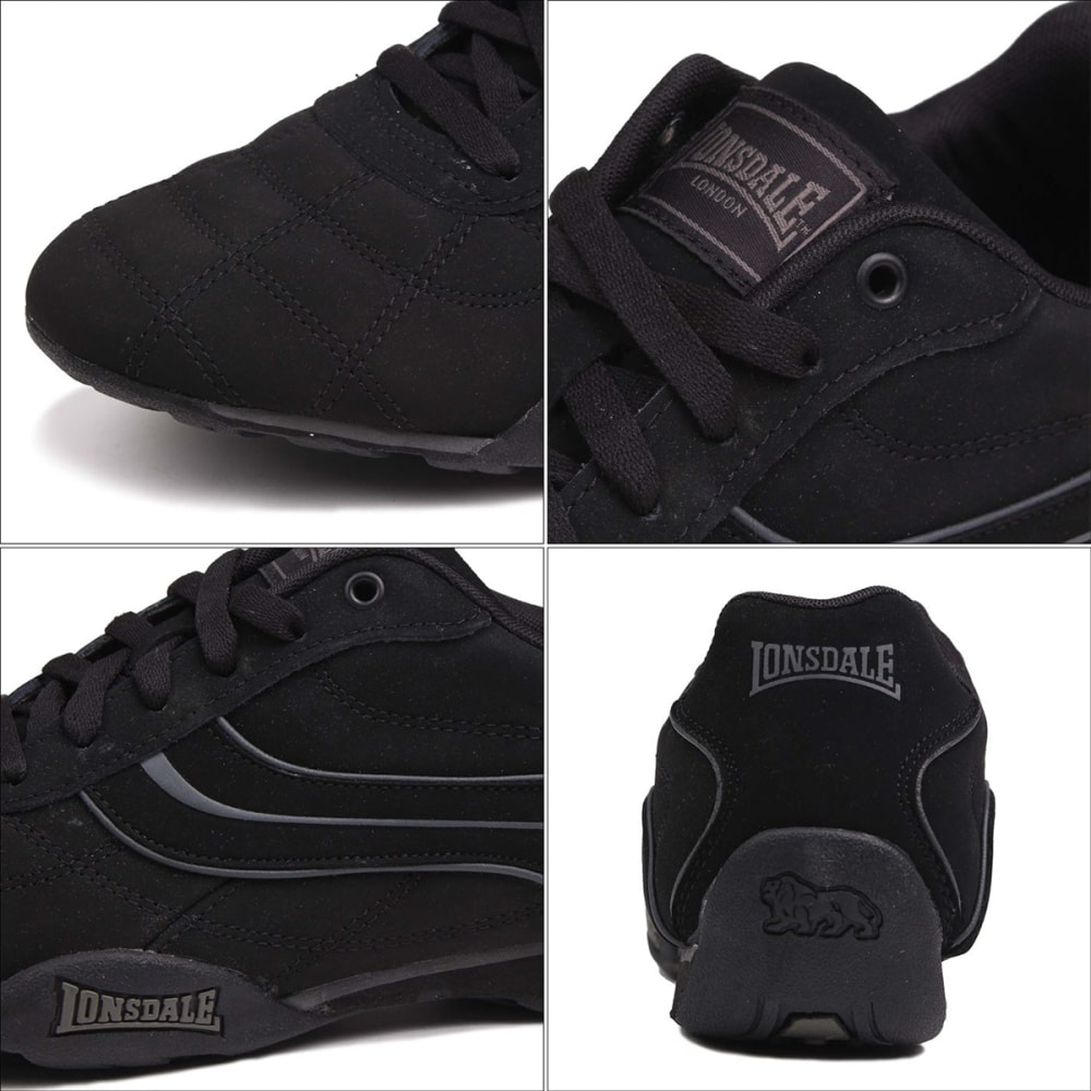 LONSDALE Men's Camden Sneakers - BLACK/BLACK