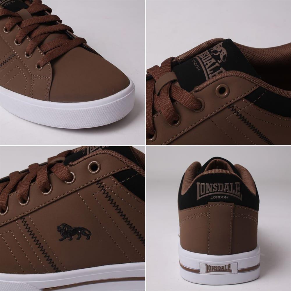 LONSDALE Men's Latimer Sneakers - BROWN