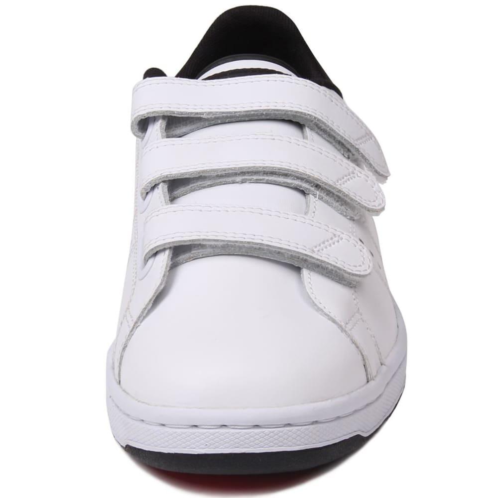 LONSDALE Men's Leyton Velcro Sneakers - WHITE/BLACK