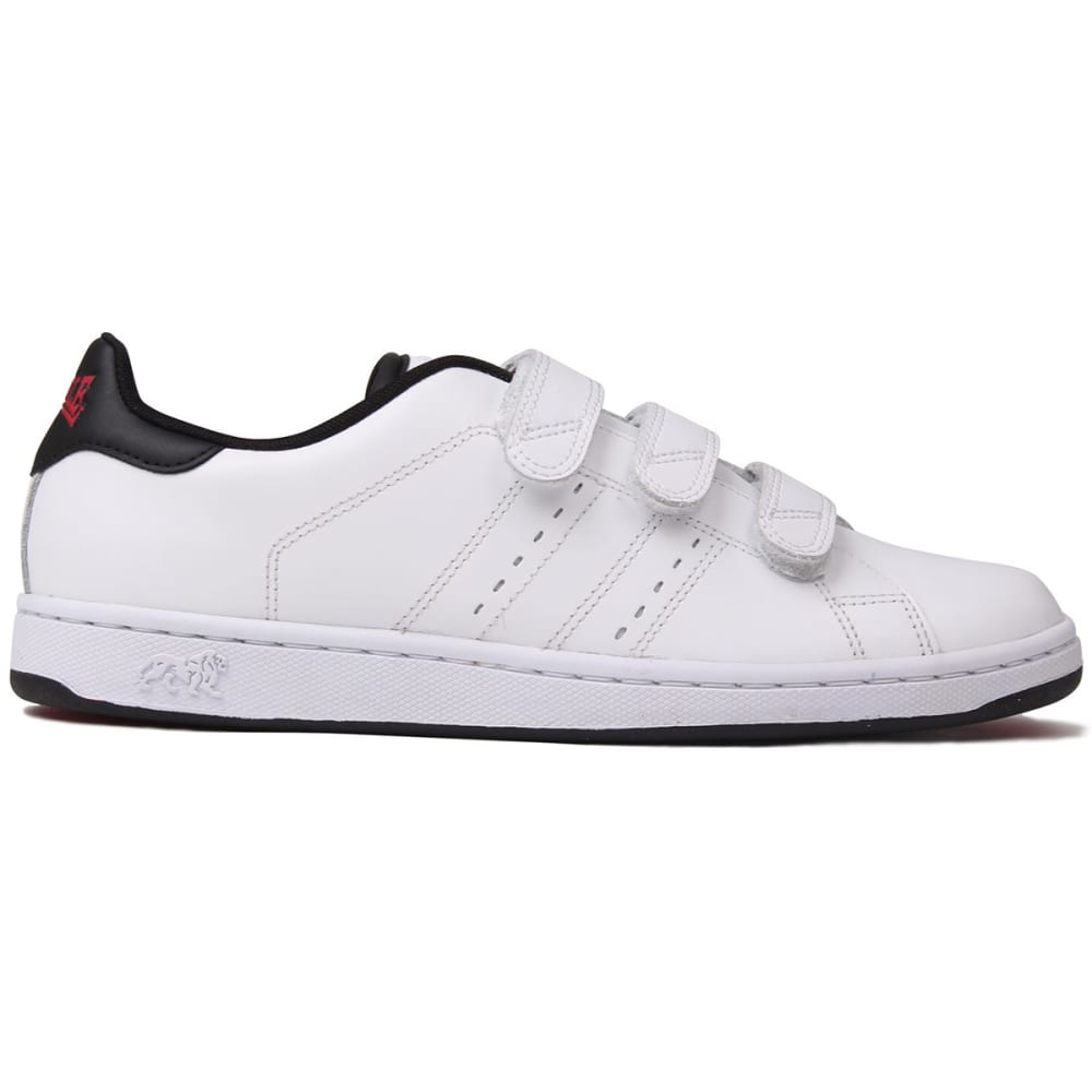 LONSDALE Men's Leyton Velcro Sneakers - WHITE/BLACK
