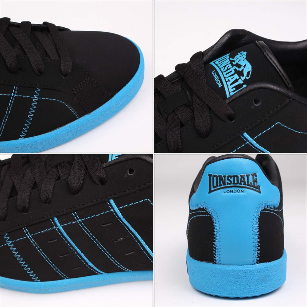 LONSDALE Men's Oval Sneakers - BLACK/BLUE