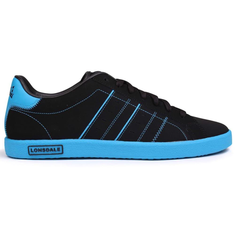 LONSDALE Men's Oval Sneakers - BLACK/BLUE