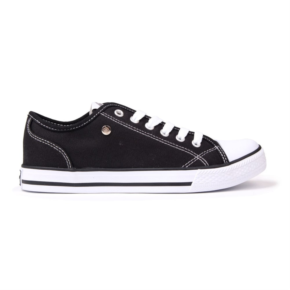 Dunlop Women's Canvas Low Sneakers - Black, 10