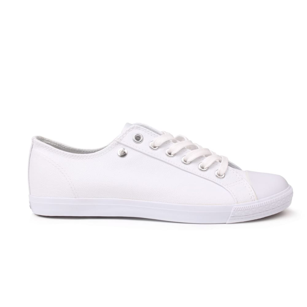 Dunlop Women's Micro Lo Pro Casual Shoes - White, 5