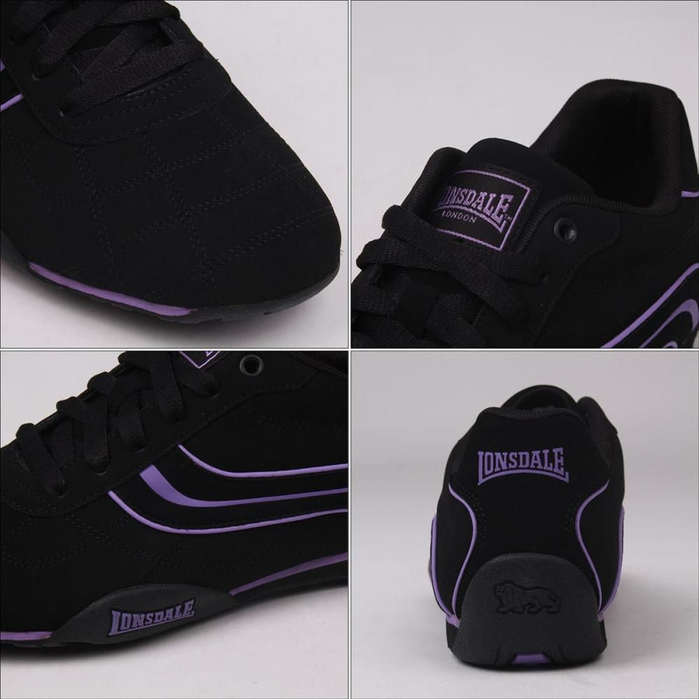 LONSDALE Women's Camden Sneakers - BLACK/PURPLE