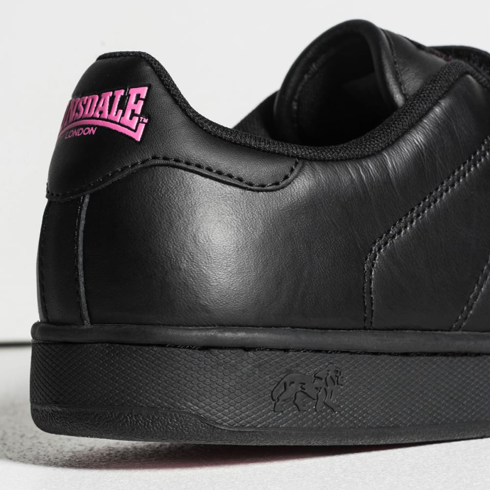LONSDALE Women's Leyton Velcro Sneakers - BLACK/CERISE