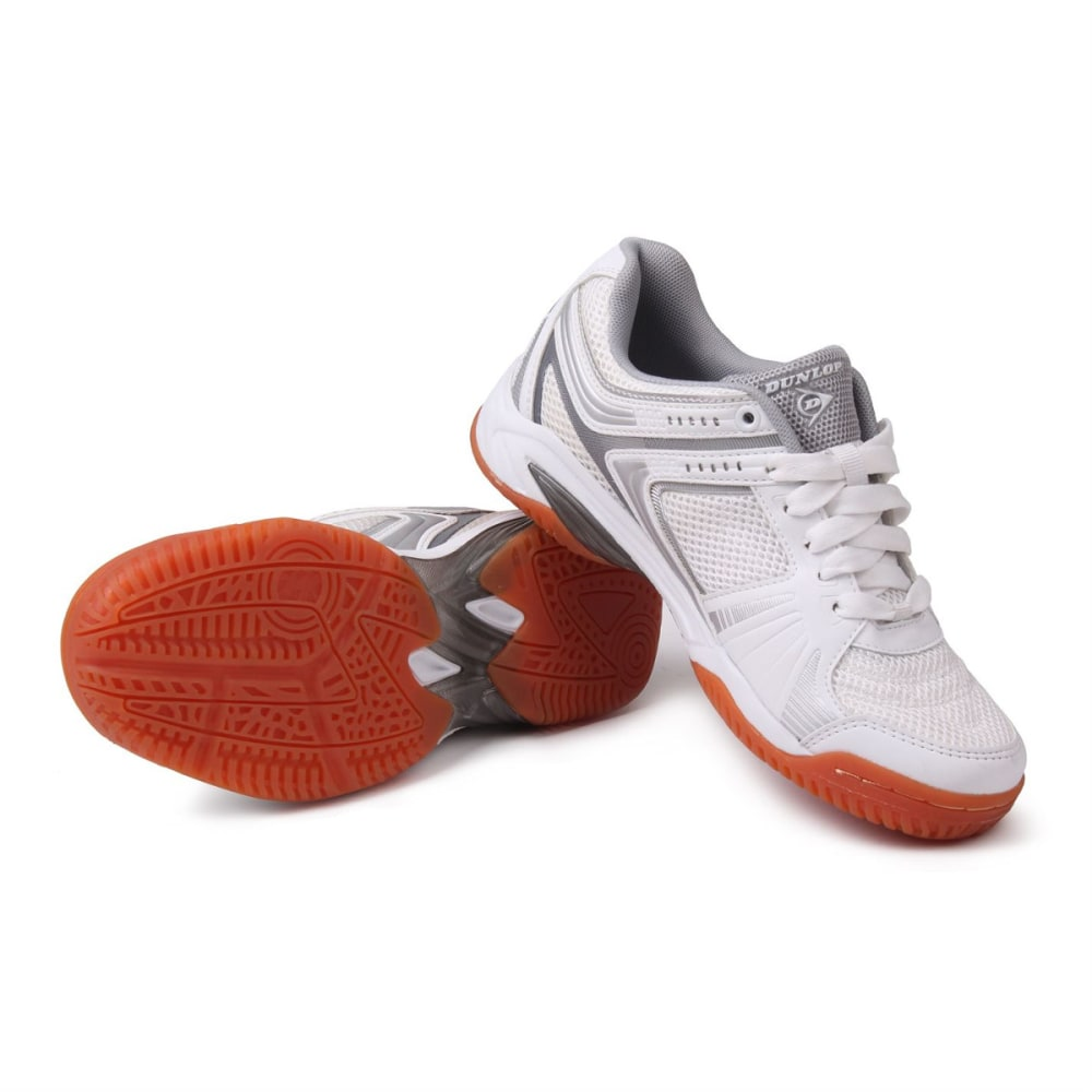 DUNLOP Women's Indoor Court Squash Sneakers - WHITE/SILVER
