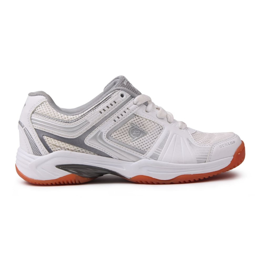 Dunlop Women's Indoor Court Squash Sneakers - White, 10