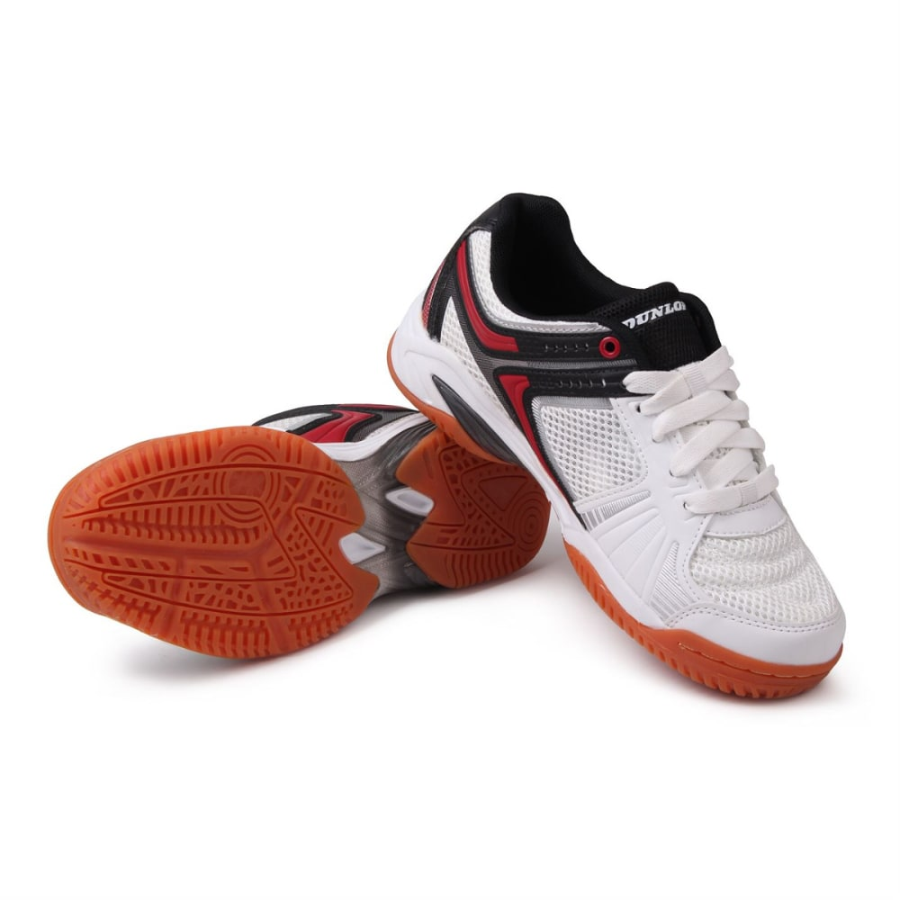 DUNLOP Boys' Indoor Court Squash Sneakers, White/Red - WHITE/RED