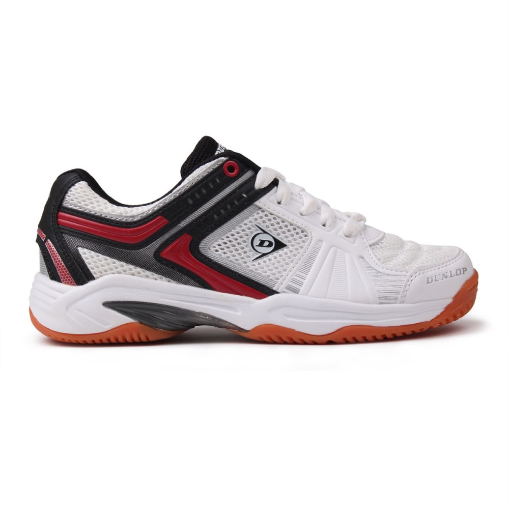 Dunlop Boys Indoor Court Squash Sneakers, White/red