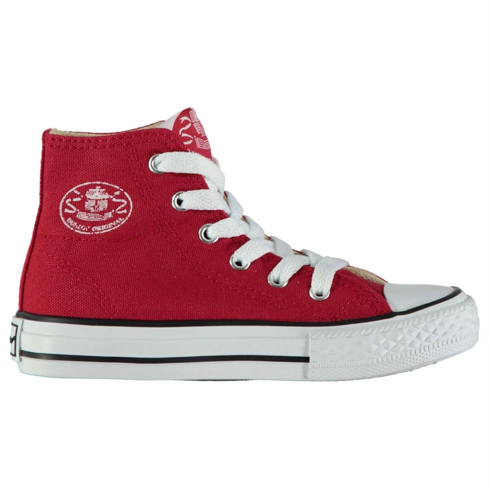 Dunlop Kids Canvas High-Top Sneakers - Red, 1