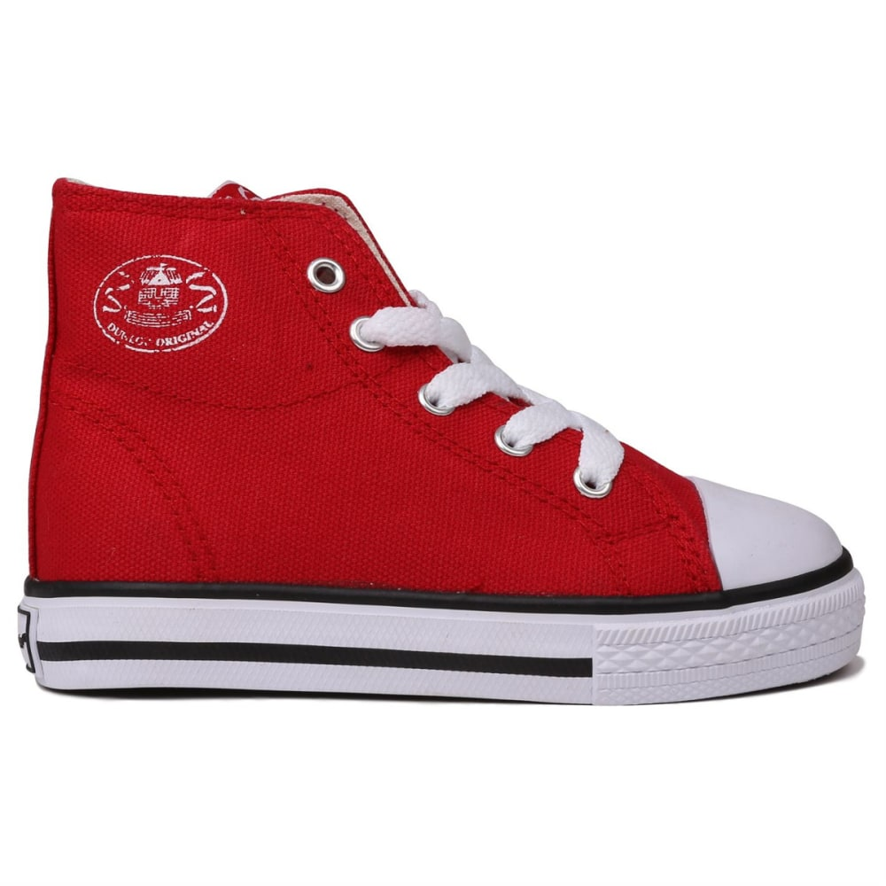 Dunlop Toddler Unisex Canvas High-Top Sneakers - Red, 10