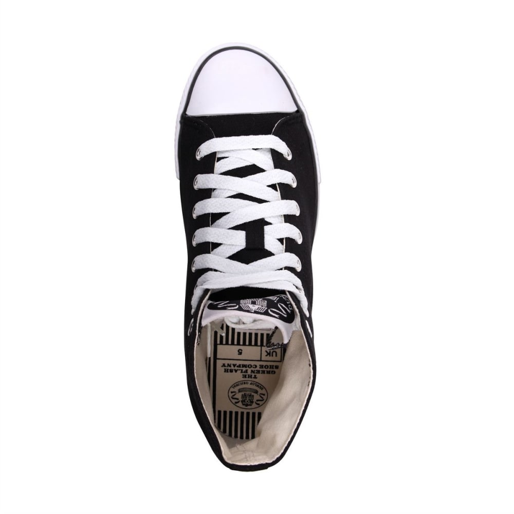 DUNLOP Kids' Canvas High-Top Sneakers - BLACK