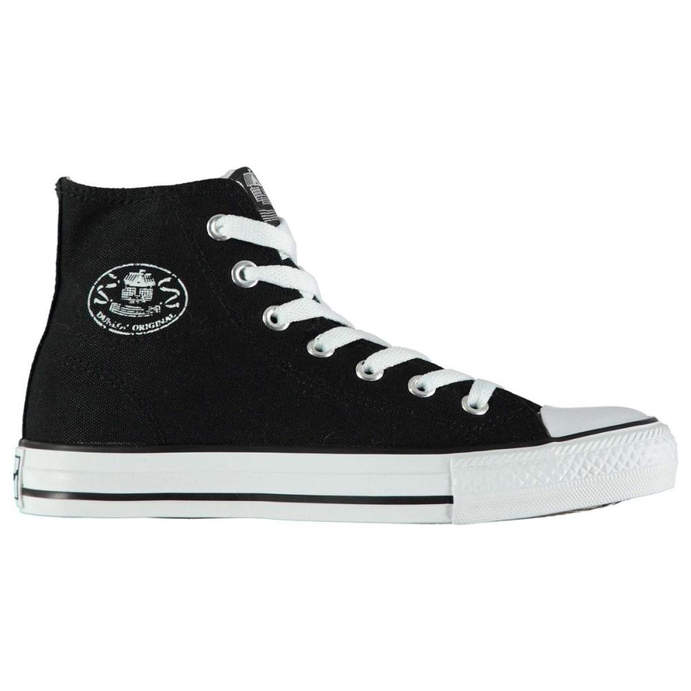DUNLOP Kids' Canvas High-Top Sneakers - BLACK