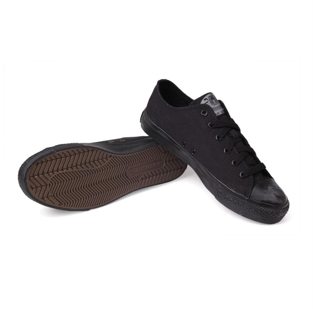 DUNLOP Kids' Canvas Low Sneakers - BLACK/BLACK