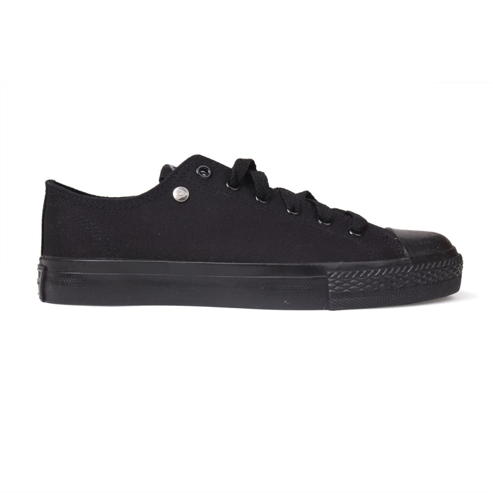 DUNLOP Kids' Canvas Low Sneakers - BLACK/BLACK