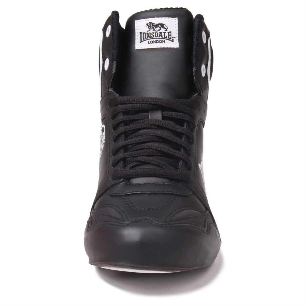 LONSDALE Boys' Boxing Boots - BLACK/WHITE