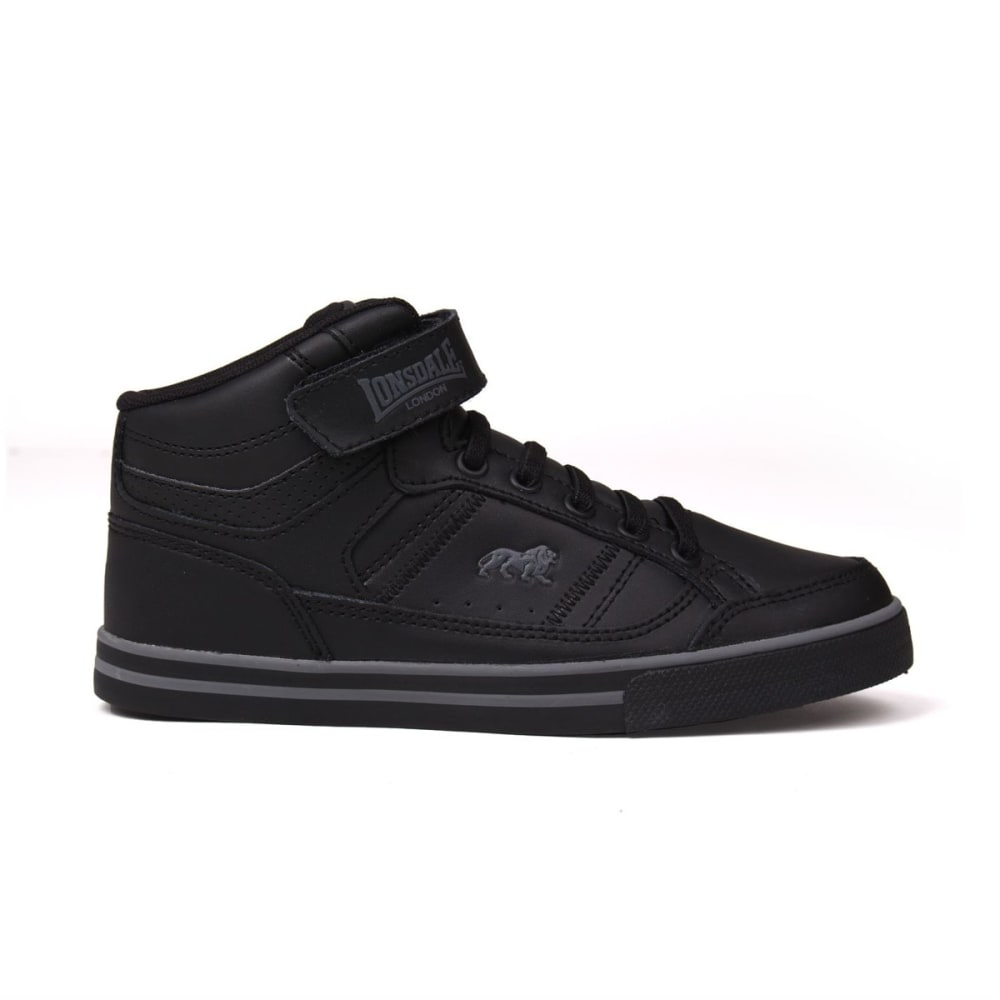 LONSDALE Kids' Canons High-Top Sneakers - BLACK/CHARCOAL