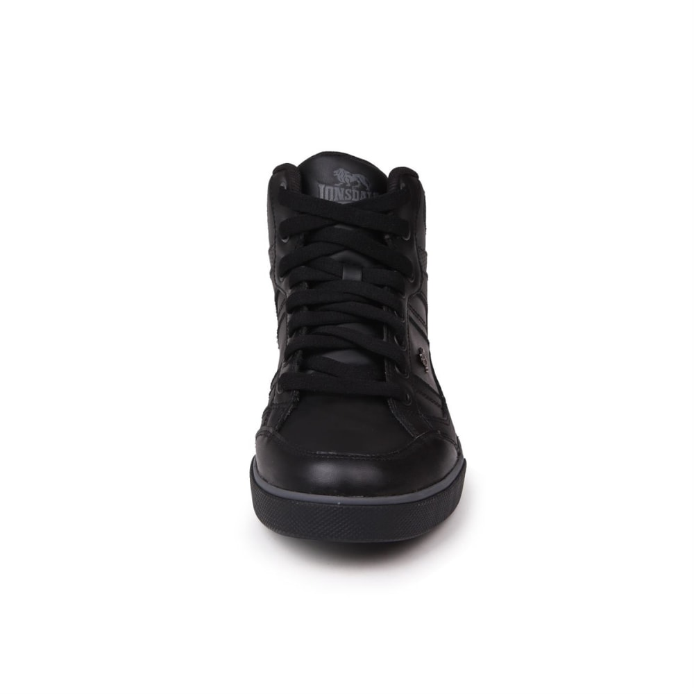 LONSDALE Kids' Canon Sneakers - BLACK/CHARCOAL