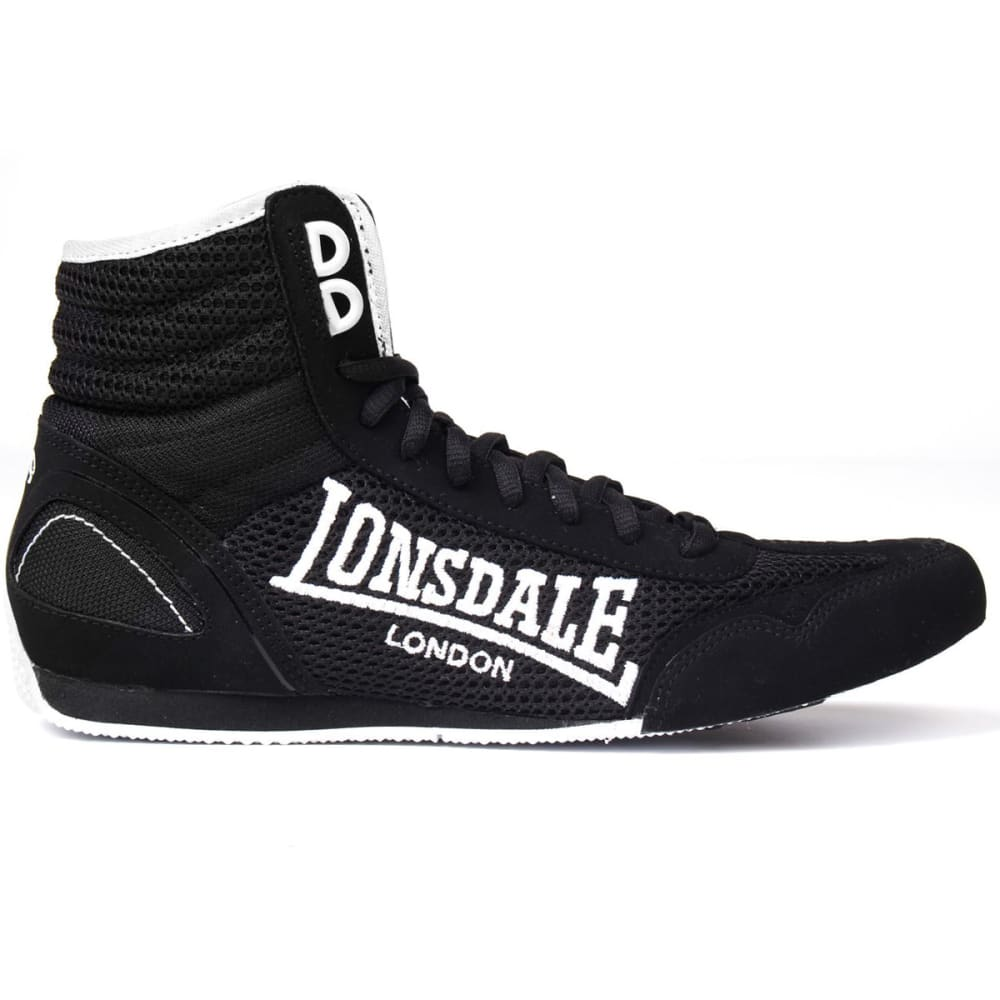 LONSDALE Boys' Contender Boxing Boots - BLACK/WHITE
