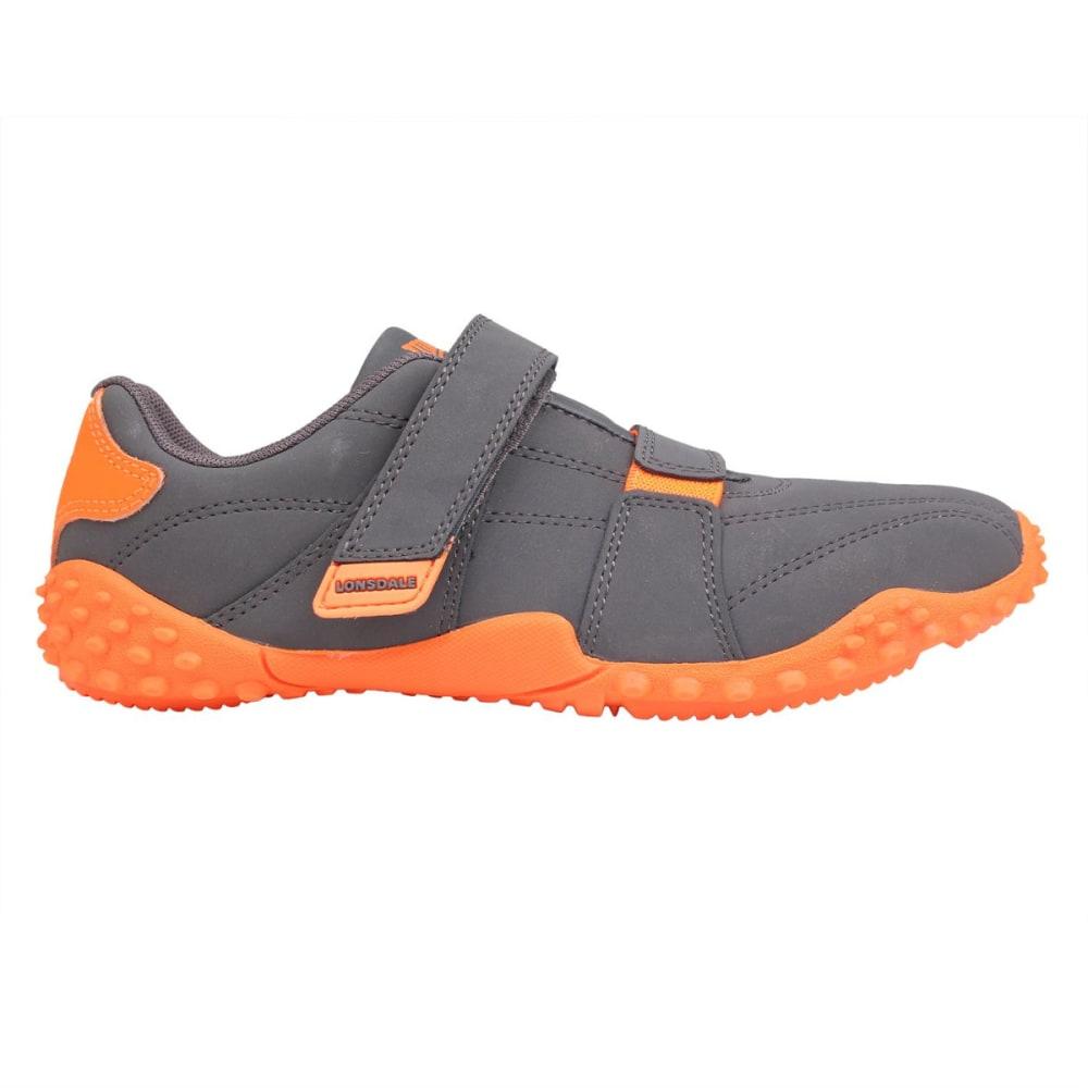 LONSDALE Kids' Fulham Sneakers - GREY/ORANGE