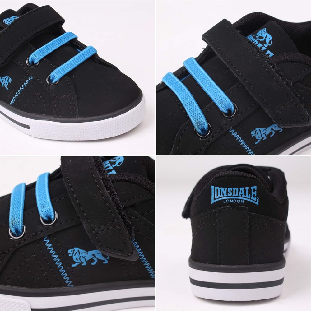 LONSDALE Infant Boys' Latimer Sneakers - BLACK/BLUE