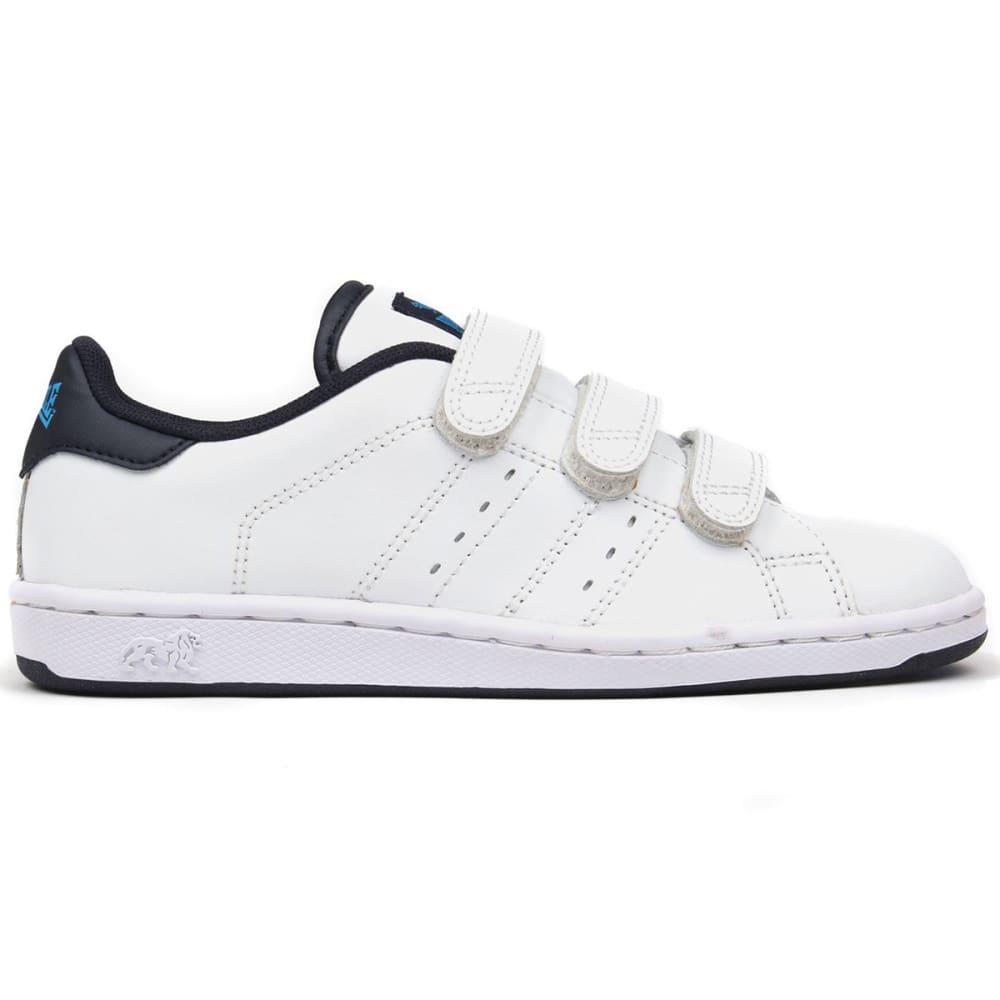 LONSDALE Boys' Leyton Velcro Sneakers - WHITE/NAVY