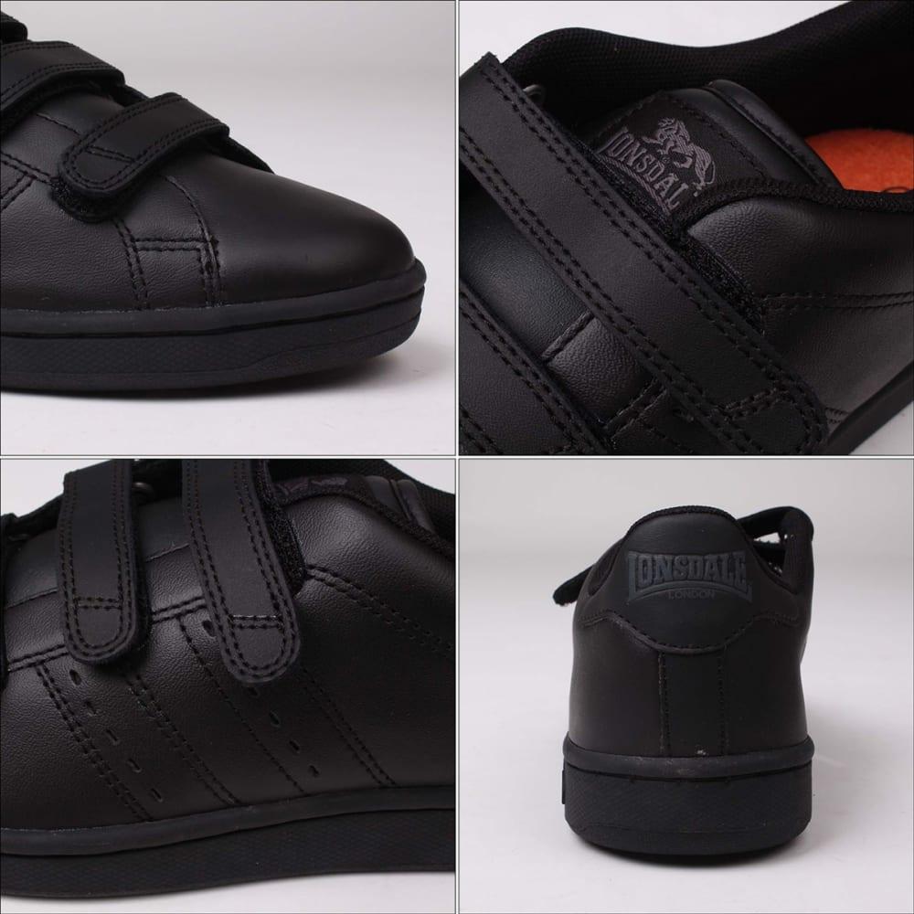 LONSDALE Boys' Leyton Velcro Sneakers - BLACK/BLACK