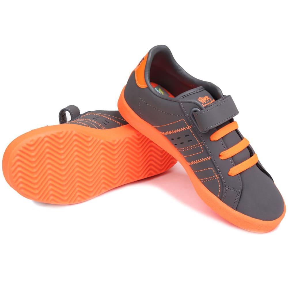 LONSDALE Boys' Oval Sneakers - GREY/ORANGE