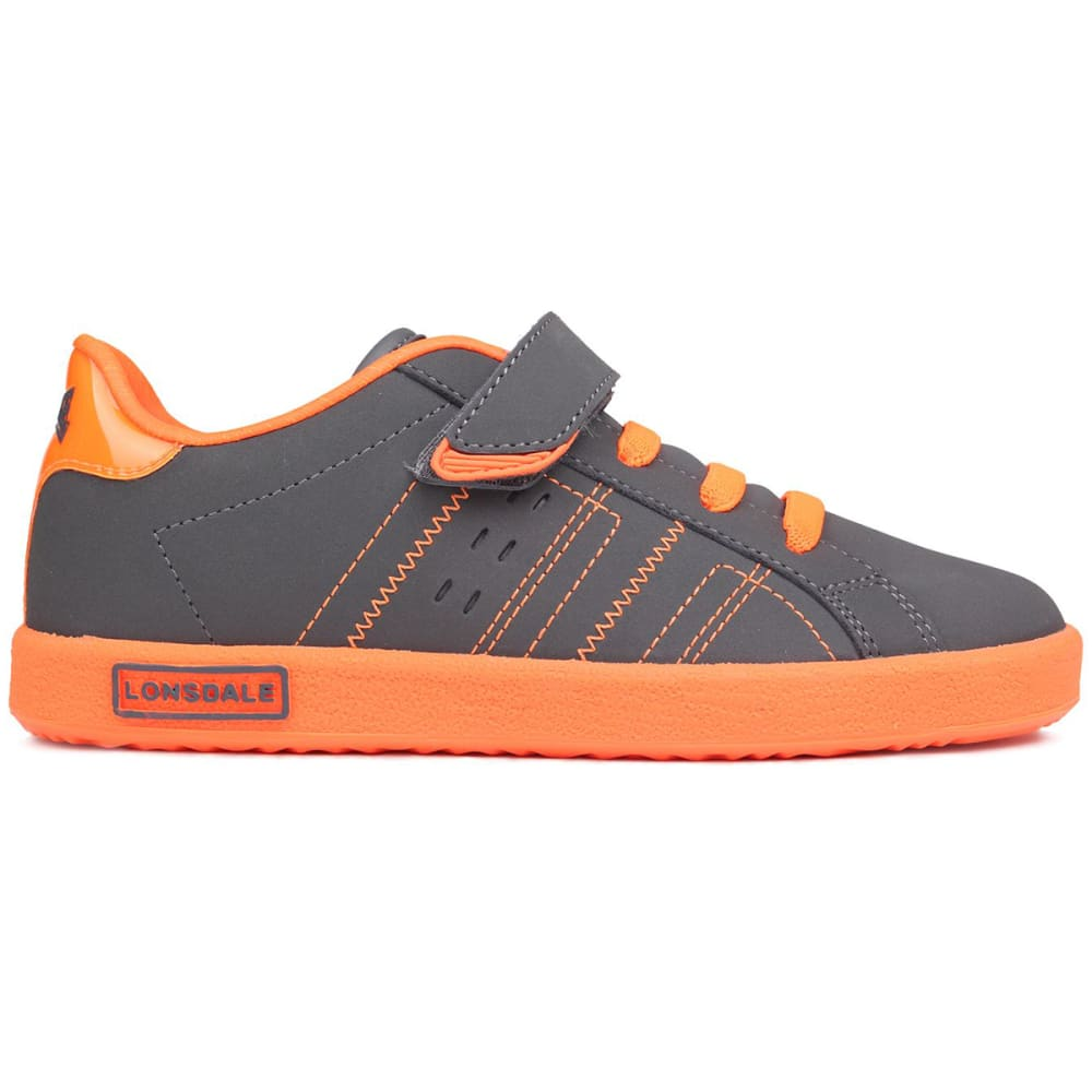 LONSDALE Boys' Oval Sneakers - GREY/ORANGE