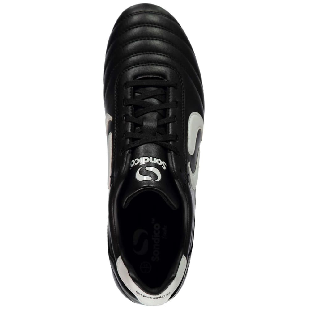 SONDICO Men's Strike Firm Ground Soccer Cleats - BLACK/WHITE