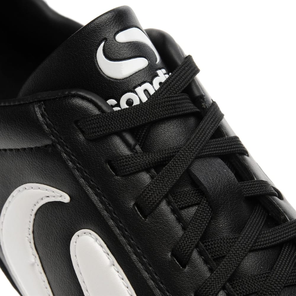 SONDICO Men's Strike Firm Ground Soccer Cleats - BLACK/WHITE