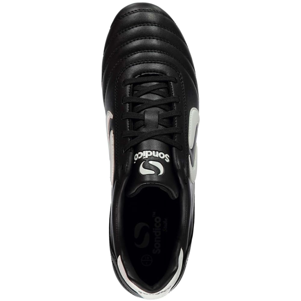 SONDICO Men's Strike Soft Ground Soccer Cleats - BLACK/WHITE