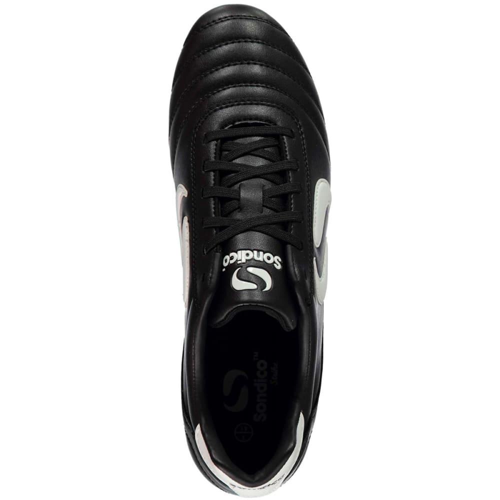 SONDICO Men's Strike Soft Ground Soccer Cleats - BLACK/WHITE