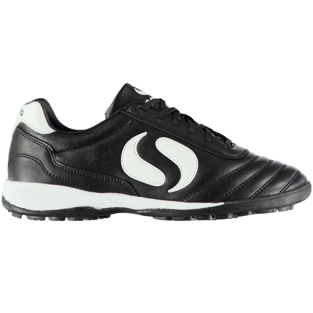 SONDICO Men's Strike Astro Turf Soccer Cleats - BLACK/WHITE