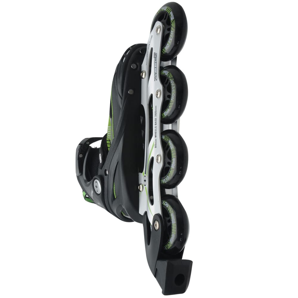NO FEAR Men's Cyclone In-Line Skates - BLACK/GREEN