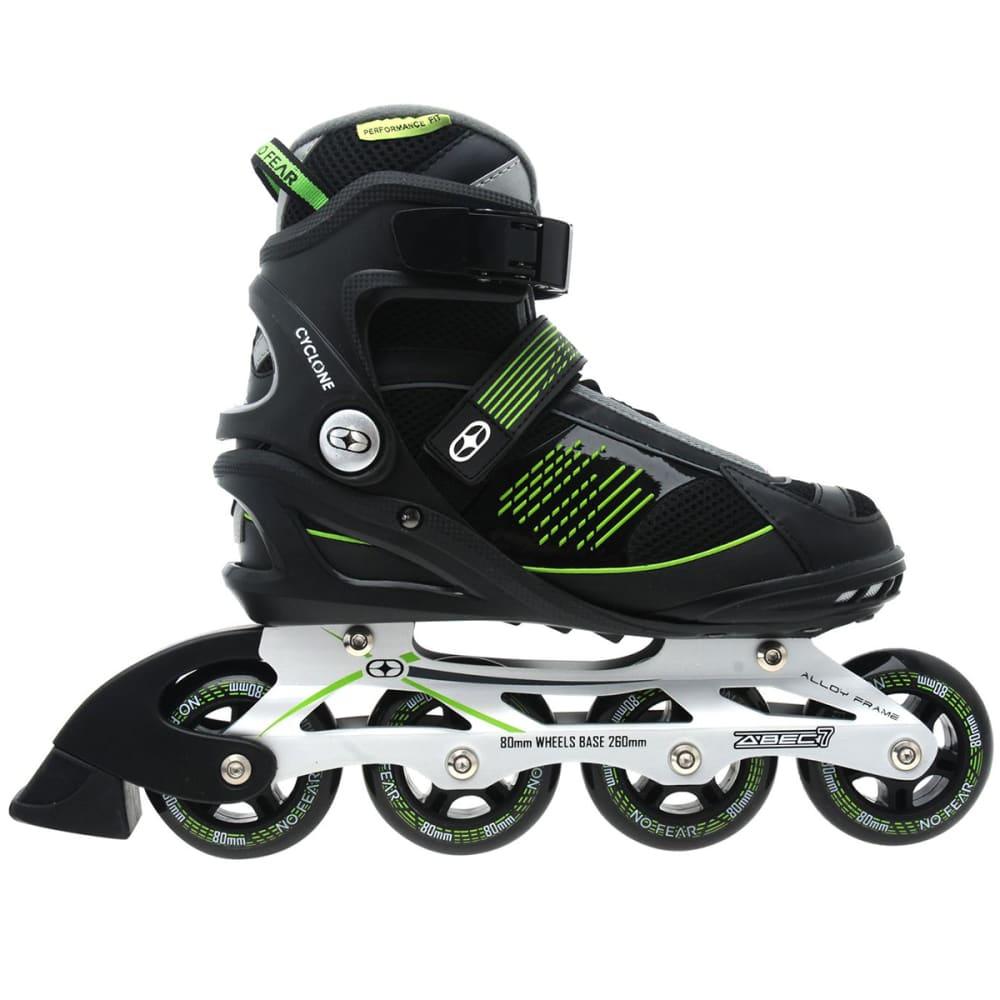NO FEAR Men's Cyclone In-Line Skates - BLACK/GREEN