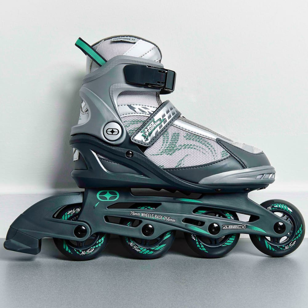 NO FEAR Women's Fitness In-Line Skates - GREY/TEAL