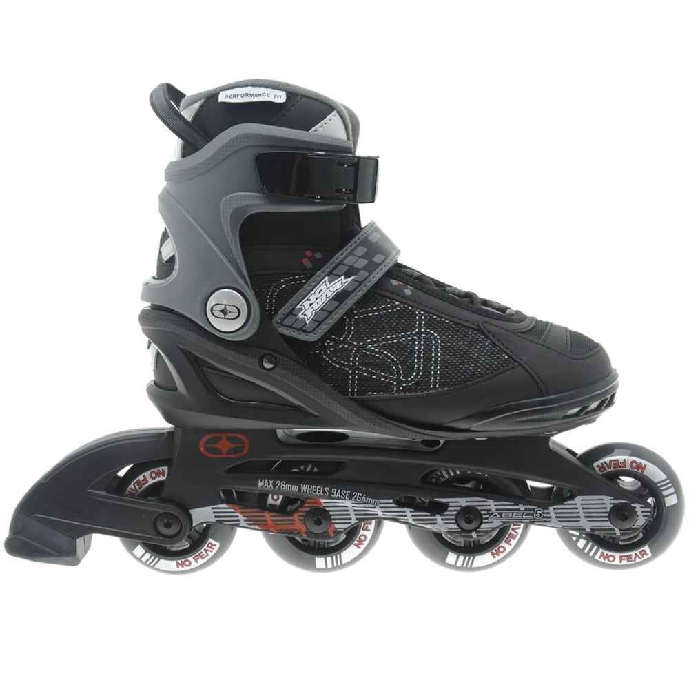 NO FEAR Men's Fitness In-Line Skates - BLACK/GREY
