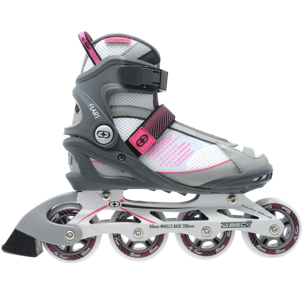 NO FEAR Women's Flare In-Line Skates - WHITE/PINK