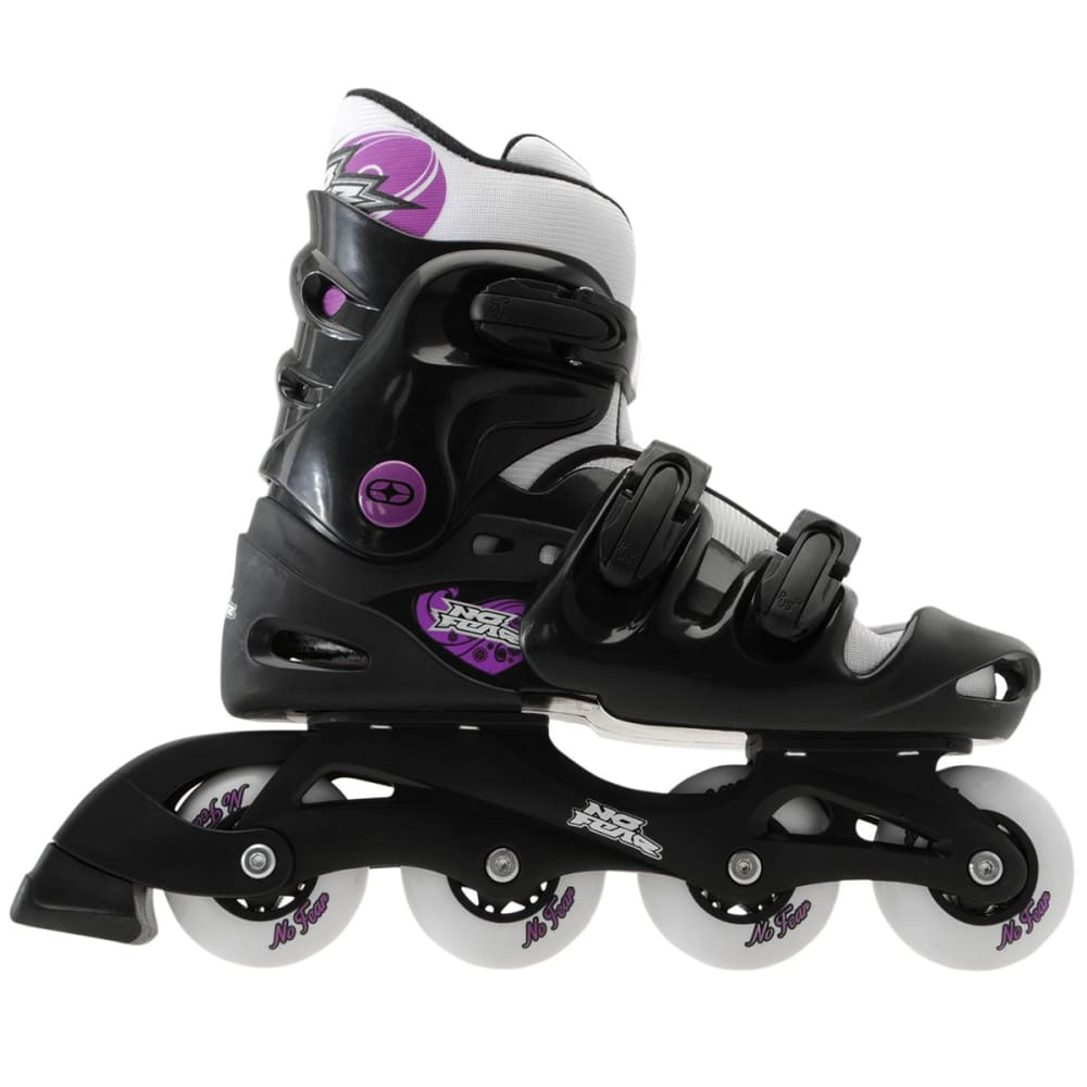 NO FEAR Women's Inline Skates - BLACK/PURPLE