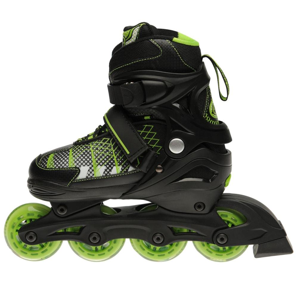 NO FEAR Kids' Edge In-Line Skates - BLACK/GREEN