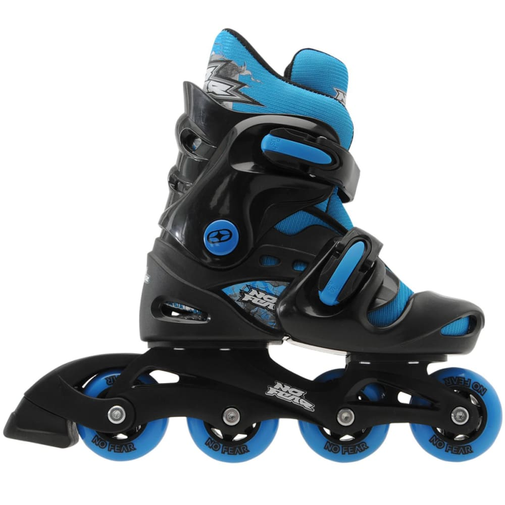 NO FEAR Boys' Inline Skates - BLACK/BLUE