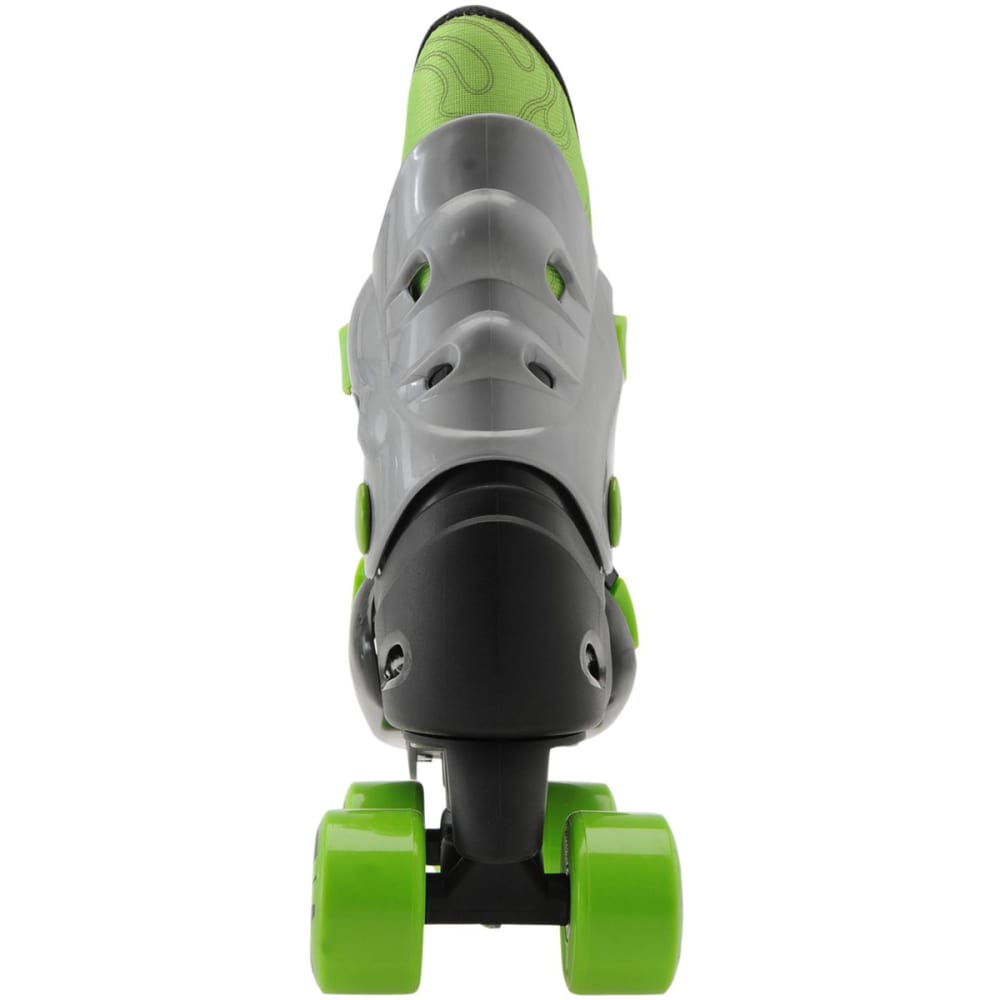 NO FEAR Boys' Quad Roller Skates - BLACK/GREEN