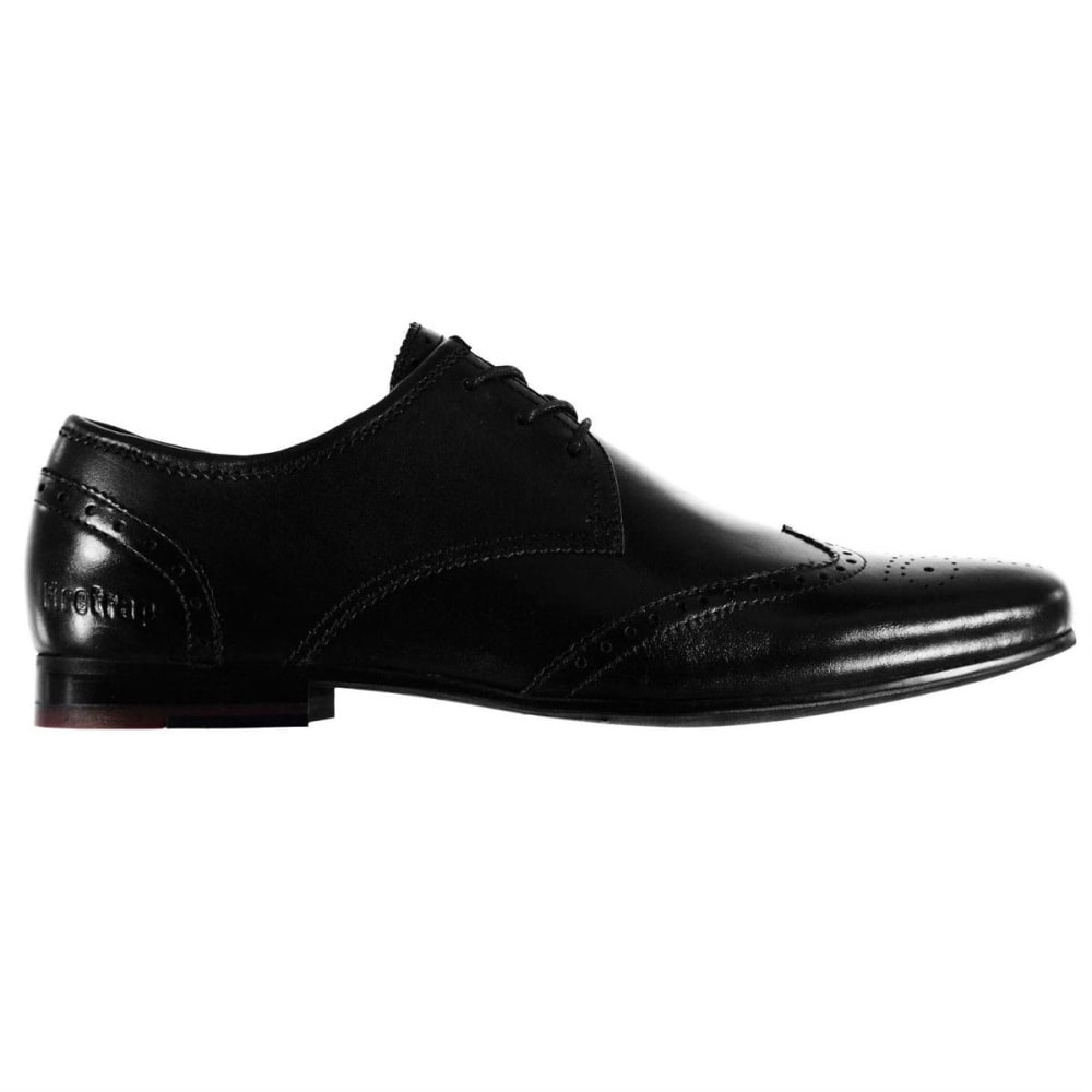 FIRETRAP Men's Beaufort Lace-Up Brogue Dress Shoes - BLACK